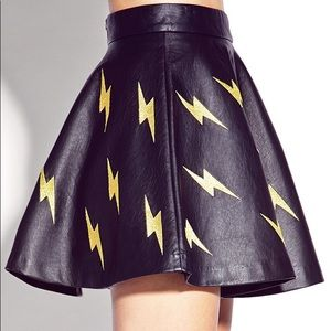 Forever 21 faux leather skater skirt